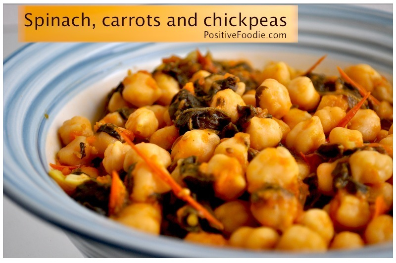 spinach carrot chickpeas
